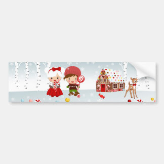 Gingerbread House Bumper Sticker