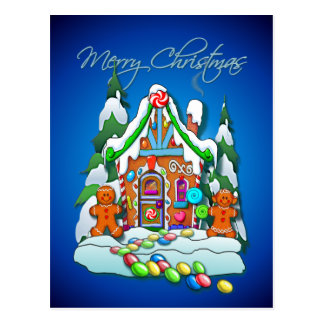 GINGERBREAD HOUSE by SHARON SHARPE Postcards