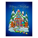 GINGERBREAD HOUSE by SHARON SHARPE Poster