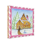 Gingerbread House Canvas Art Print Stretched Canvas Prints