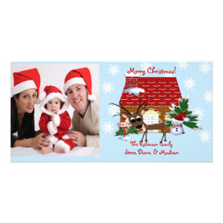 Gingerbread House Chirstmas Family Photo Card