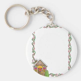 Gingerbread House Corner Key Ring