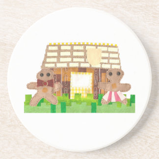 Gingerbread House Couple Coaster
