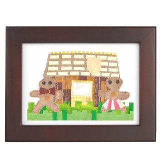 Gingerbread House Couple Keepsake Box
