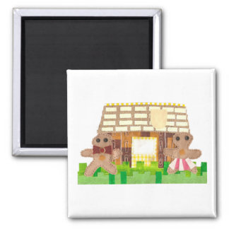 Gingerbread House Couple Magnet
