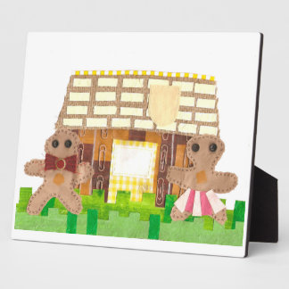 Gingerbread House Couple on an Easel Plaque