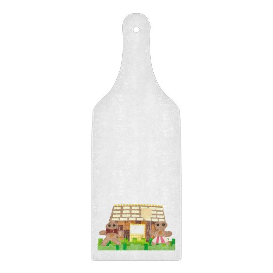 Gingerbread House Couple Paddle Chopping Board