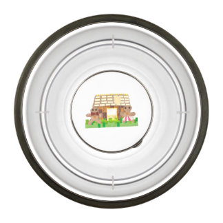 Gingerbread House Couple Pet Bowl