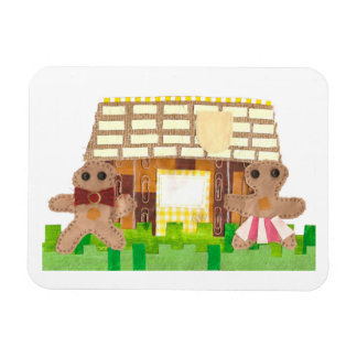 Gingerbread House Couple Photo Magnet