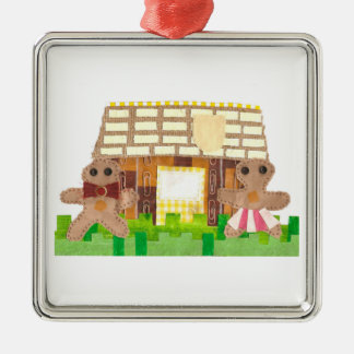 Gingerbread House Couple Premium Ornament