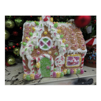Gingerbread House Decoration Postcard