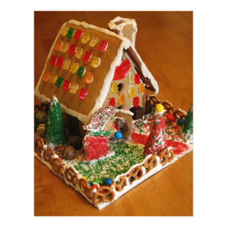 Gingerbread House Full Color Flyer