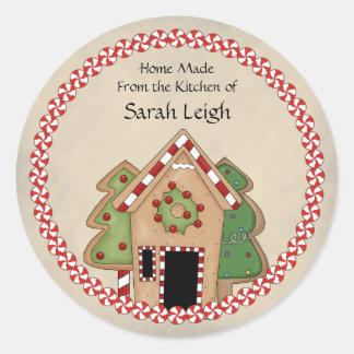 Gingerbread House Food Gift Sticker Round Sticker