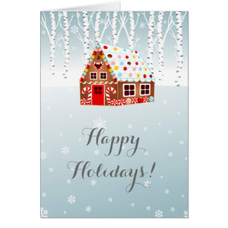 Gingerbread House Greeting Card for Christmas!