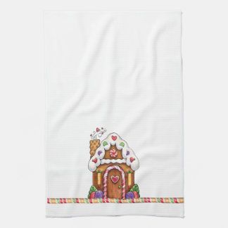 Gingerbread House & Gumdrops Hand Towels