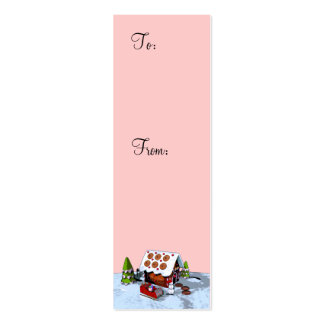 Gingerbread house Holiday Gift Tag Pack Of Skinny Business Cards