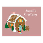 Gingerbread House Holiday Postcard
