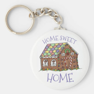 Gingerbread House Home Sweet Home Christmas Xmas Key Ring