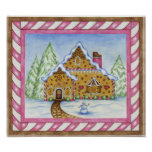 Gingerbread House Lodge Poster