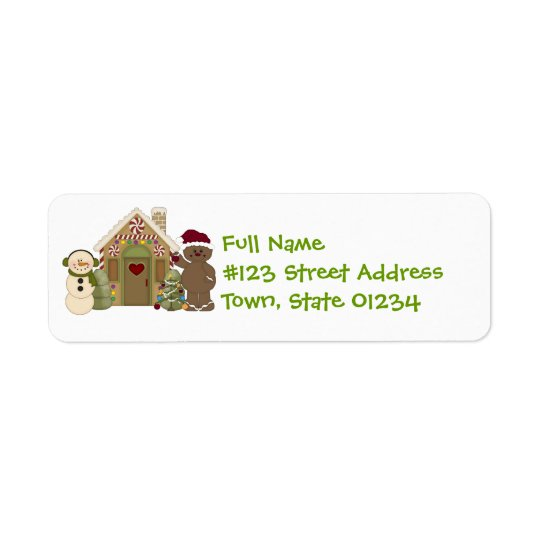 Gingerbread House Mailing Labels