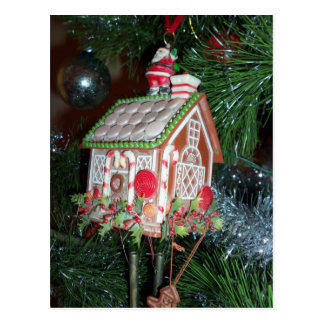 Gingerbread House Ornament Postcard
