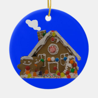 Gingerbread House Photo Christmas Ornament