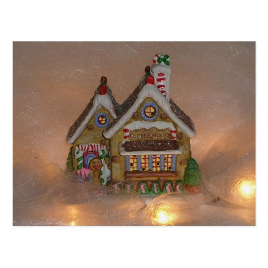 Gingerbread House Porcelain Postcard