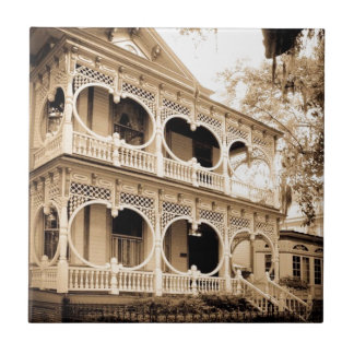 Gingerbread House - Savannah, GA Tile