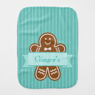Gingerbread Hugs Burp Cloth