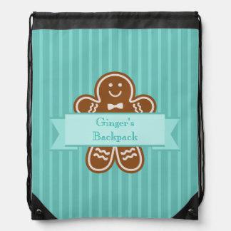 Gingerbread Hugs Drawstring Bag