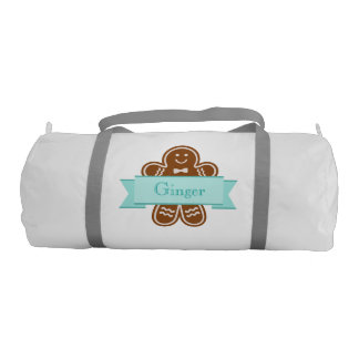 Gingerbread Hugs Gym Duffel Bag