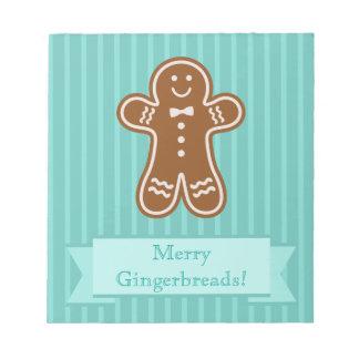 Gingerbread Hugs Notepad