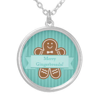 Gingerbread Hugs Silver Plated Necklace