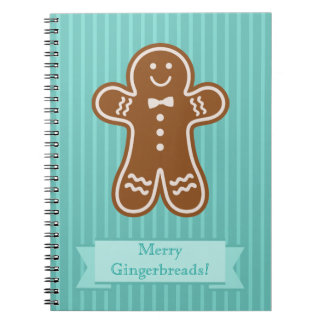 Gingerbread Hugs Spiral Notebooks