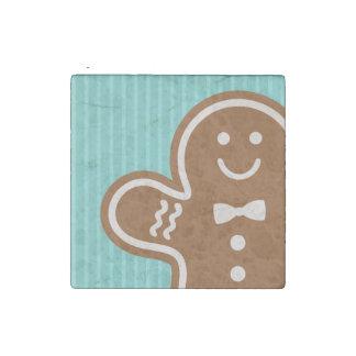 Gingerbread Hugs Stone Magnet