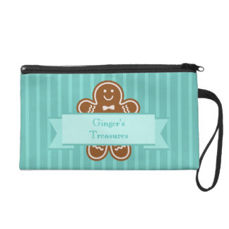 Gingerbread Hugs Wristlet Purses