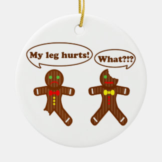 Gingerbread Humor Christmas Ornament