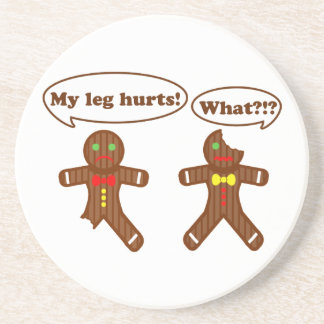 Gingerbread Humor Drink Coasters