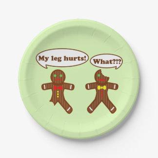 Gingerbread Humor Paper Plate