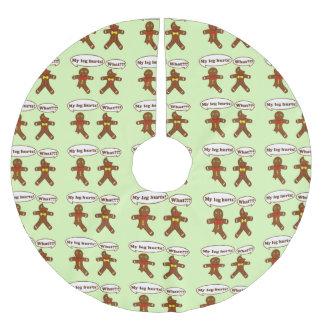 Gingerbread Humor Pattern Brushed Polyester Tree Skirt