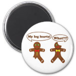 Gingerbread Humour 6 Cm Round Magnet