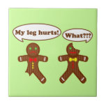 Gingerbread Humour Small Square Tile