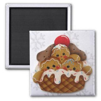Gingerbread Ice Cream Sweeties Magnet