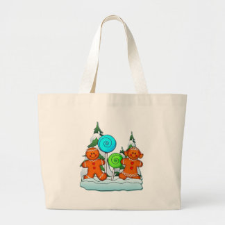 GINGERBREAD KIDS AND LOLLIPOPS by SHARON SHARPE Jumbo Tote Bag