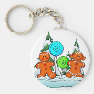 GINGERBREAD KIDS AND LOLLIPOPS by SHARON SHARPE Key Chains