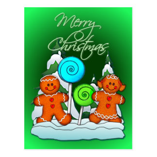 GINGERBREAD KIDS AND LOLLIPOPS by SHARON SHARPE Postcards