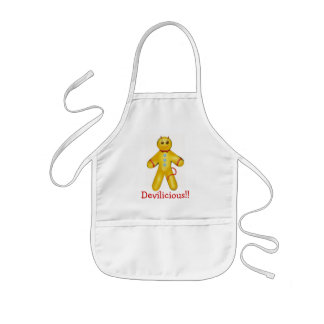 Gingerbread kid's apron