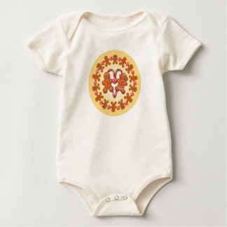 GINGERBREAD KIDS & CANDY by SHARON SHARPE Baby Bodysuit