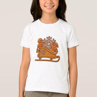 GINGERBREAD KIDS & SLEIGH by SHARON SHARPE T Shirts