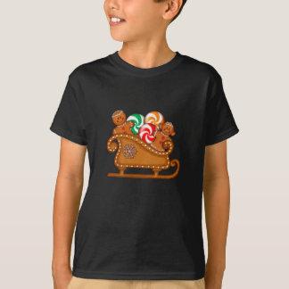 GINGERBREAD KIDS & SLEIGH by SHARON SHARPE Tshirts